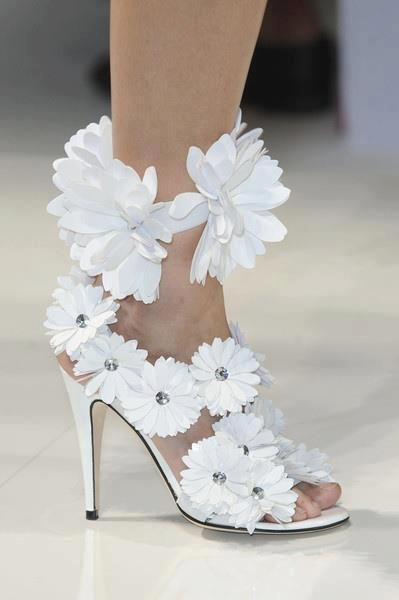 Sandals heels shoes flowers