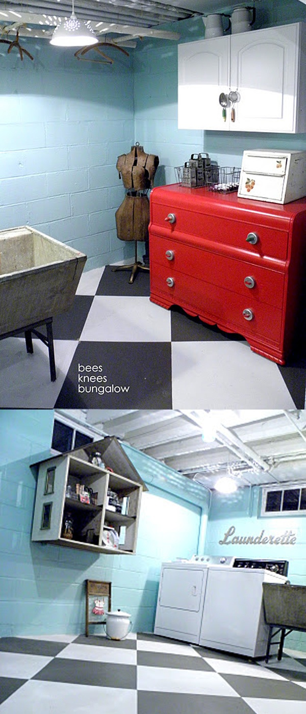 diy vintage laundry room