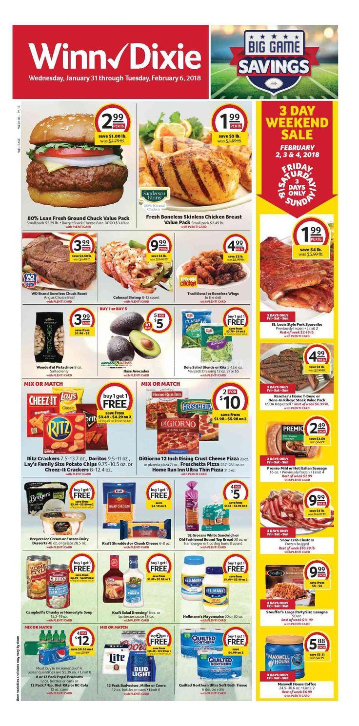 Winn Dixie Weekly Ad January 31 – February 6, 2018 - http://www.olcatalog.com/grocery/winn-dixie-weekly-ad.html