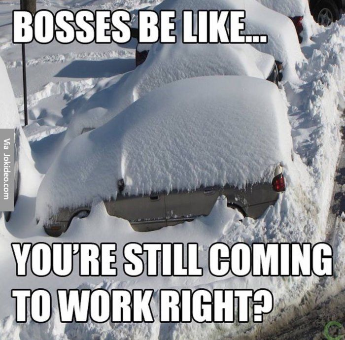 Bosses be like – snow meme