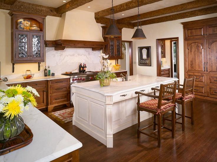 An Atlanta Mediterranean Kitchen Made Of Alder. Architect: Greg Busch  Builder: Keith Kenney
