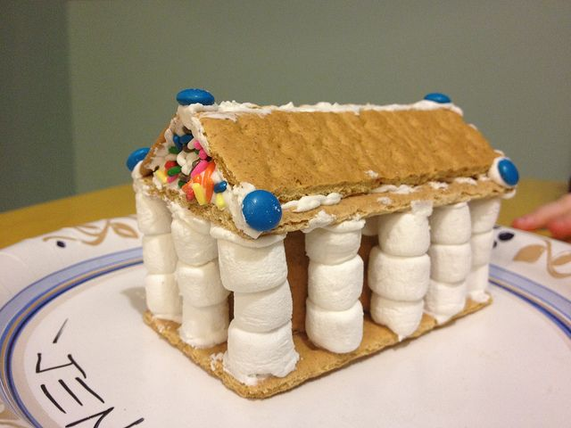 Gingerbread Parthenon - the link is just a phone (no instructions) but I think it would be pretty easy to duplicate.