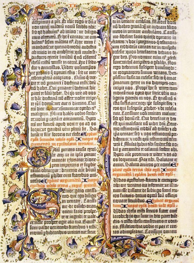 MINIATURIST, English. Gutenberg Bible. 1460s. Incunable.