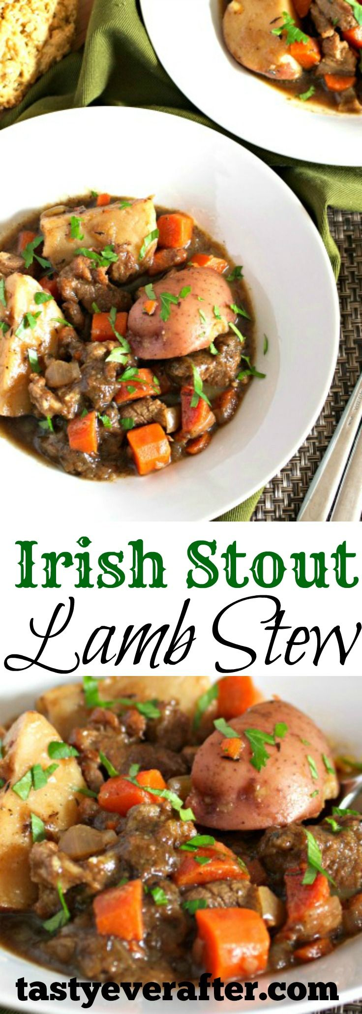 This slow simmered stew is a family favorite every St Patrick's Day.  Made with grass-fed local farm lamb & veggies!