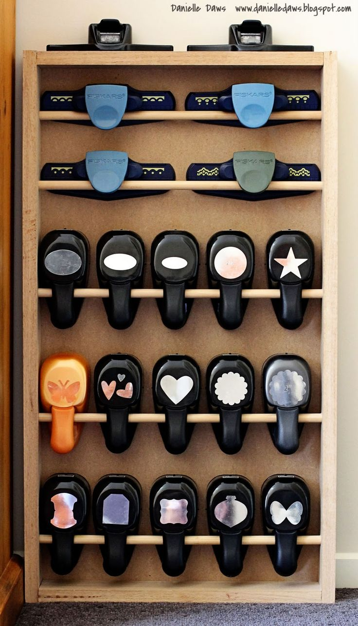 Danielle Daws has some great pics of her organized craft room.