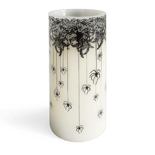 day of the dead spider candle grandin road - Grandin Road Halloween Haven
