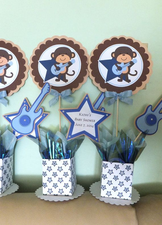 Holder box center pieces baby shower kit baby boy for Baby boy shower decoration kits