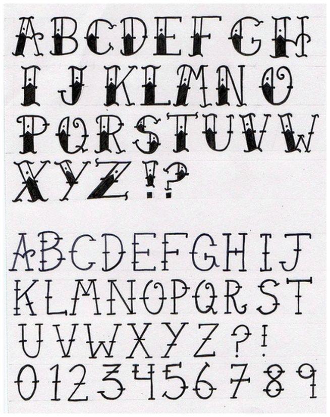 Worn Text Alphabet