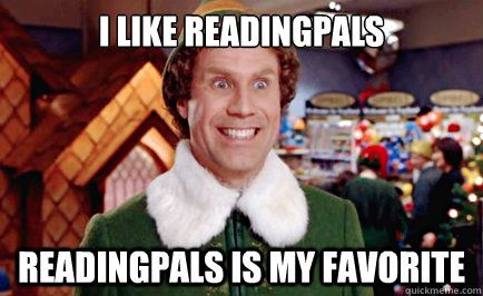 Buddy the Elf Makes the ReadingPals Face  You can make it too- www.uwnefl.org/2013DayofAction.asp #ReadingPals #NEFLDayofAction