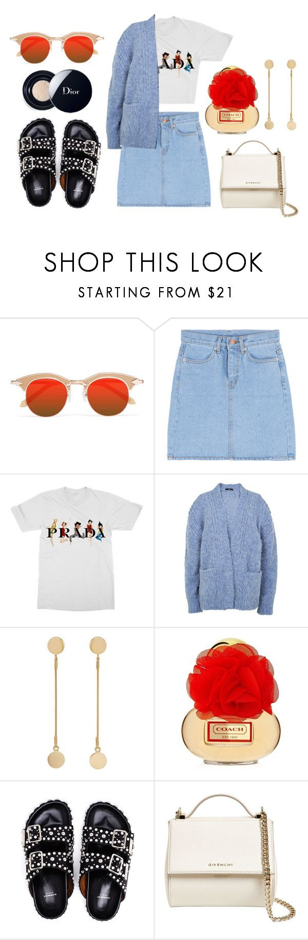 """""""Luca"""" by hannahshay ❤ liked on Polyvore featuring Karen Walker, Prada, TIBI, Isabel Marant, Givenchy and Christian Dior"""