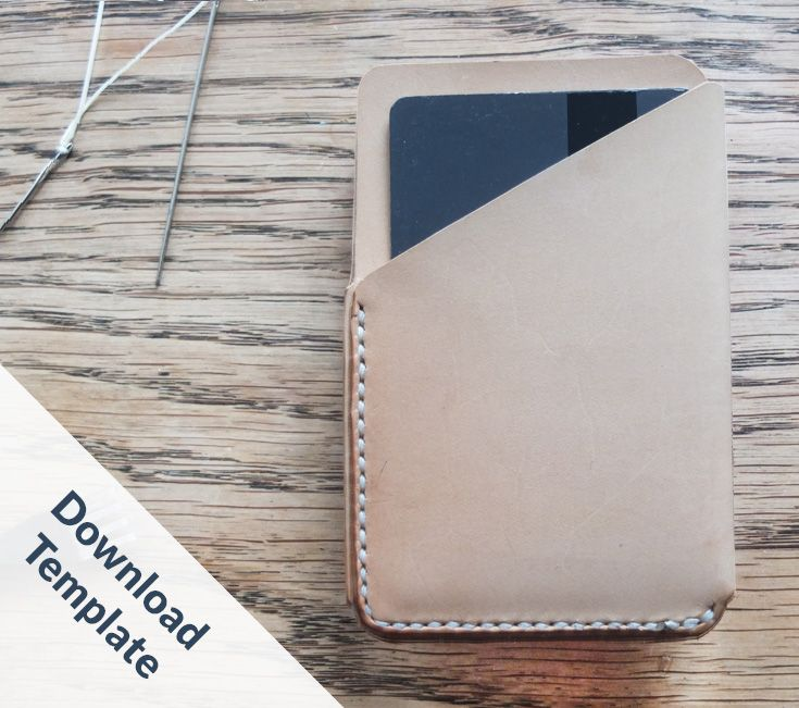 DIY: How to hand stitch a small Leather Card Holder Wallet. Make your own Leather wallet. Slim Wallet. Leather Card Holder. Men's Leather Wallet. Small Cardwallet. Leather Cardcase. How to make a thin Leather wallet.