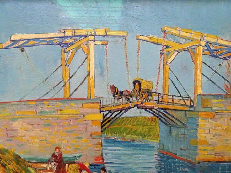 Hoge Veluwe - Museum Kröller-Müller. Vincent van Gogh (1853/1890) - 'Brug te Arles (Pont de Langlois)' - detail - maart 1888 - olieverf op doek. Foto: G.J. Koppenaal - 30/8/2017.