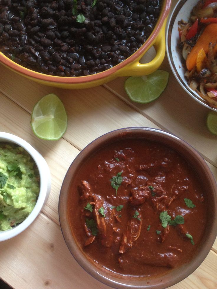 "I added ""Mexican chicken mole 