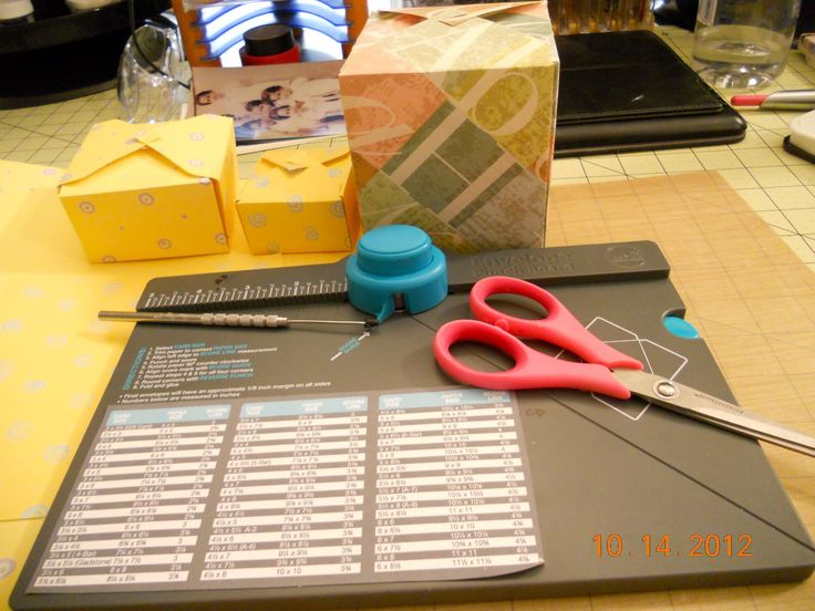 Creating gift boxes with your We R Memory Envelop Punch board
