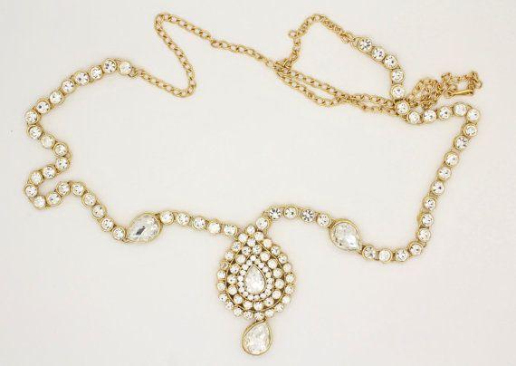Handmade Gold Ladies Womens Kundan Stones Adjustable by Glimour