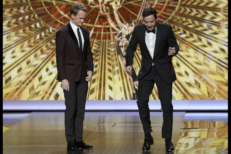 Neil Patrick Harris and Jimmy Fallon on stage #Emmy2013
