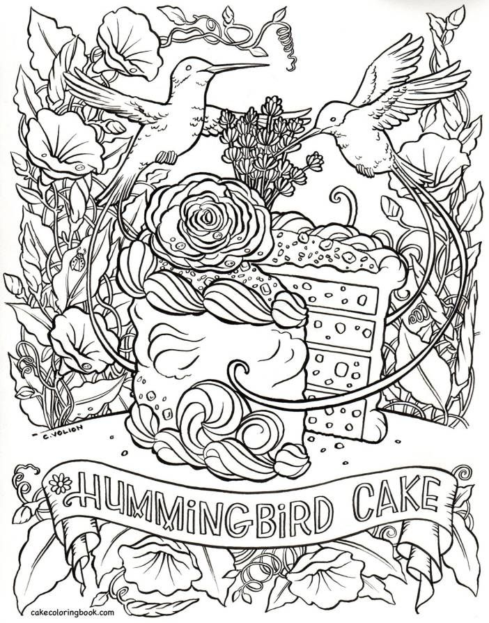 Coloring Pages For Adults Hummingbird : Best humming birds art coloring images on pinterest