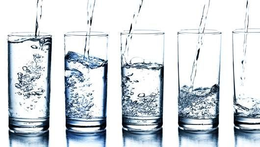 Types of water - spring water is best but difficult to get because source of bottled water is often unknown and things can get in it
