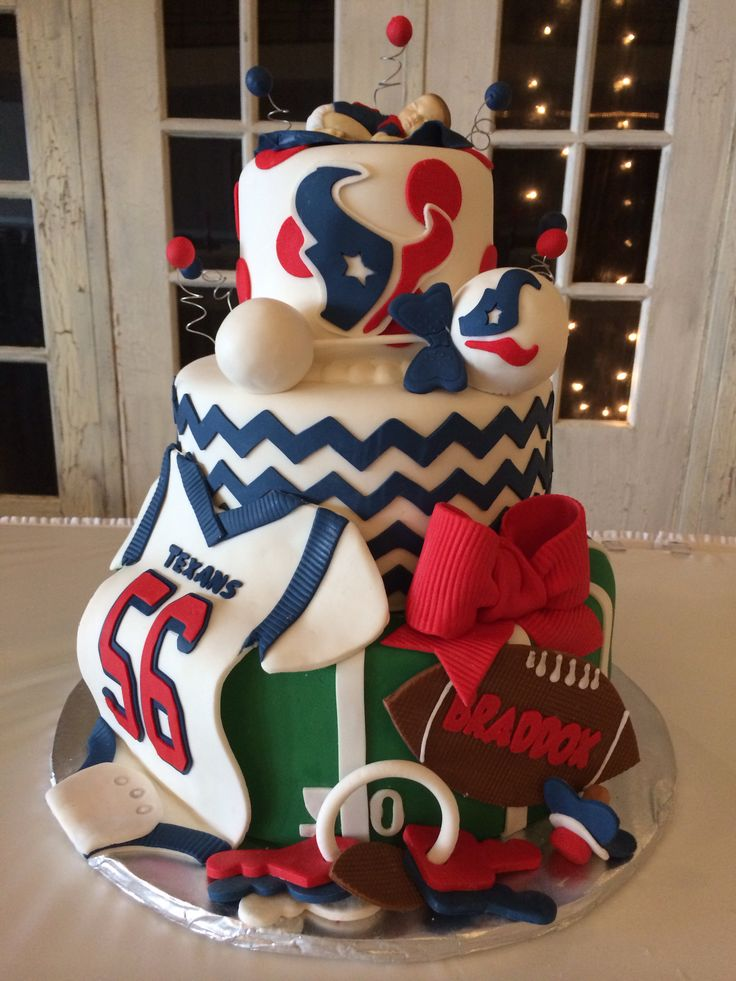 Love it!!!! The poster said this was for her grandson's Texans baby shower cake.