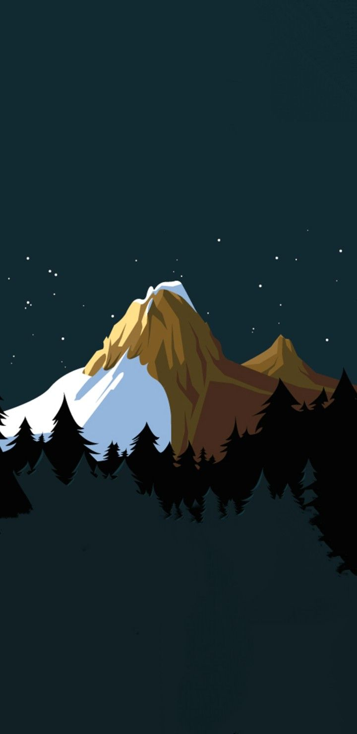 Mountain Artwork Art Wallpaper Graphic Wallpaper