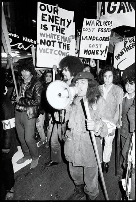 Tame Iti and John Ohia during anti-war protest | VietnamWar.govt.nz, New Zealand and the Vietnam War