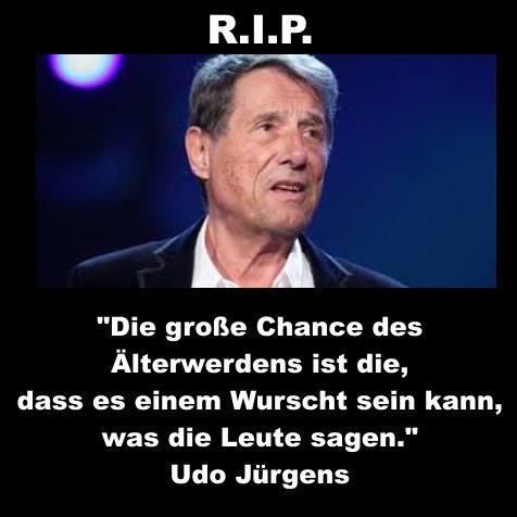 Udo, danke für deine Lieder