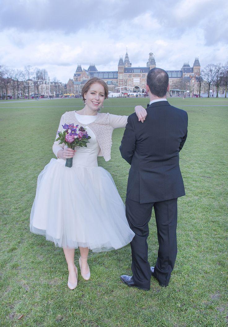 Classy met lichtroze #weddingdress #bruidsjurk