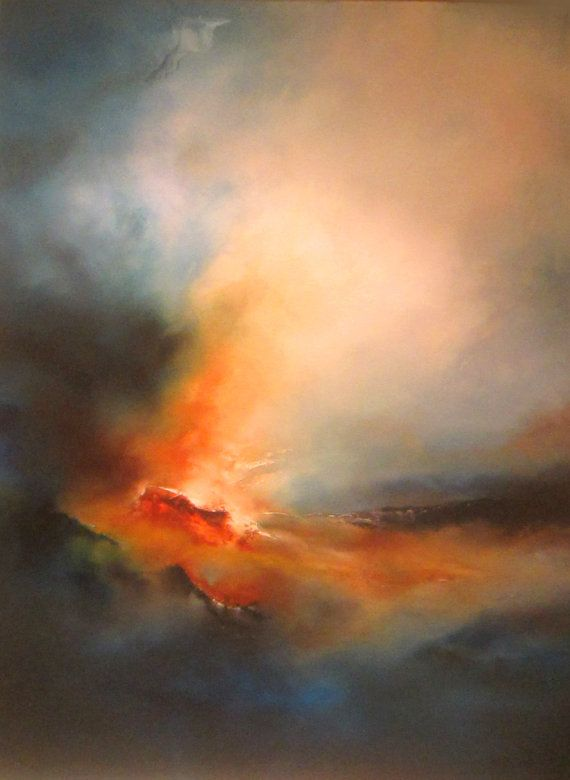 Wow!! Abstract Landscape Oil Painting for Sale by Eskayfineart on Etsy