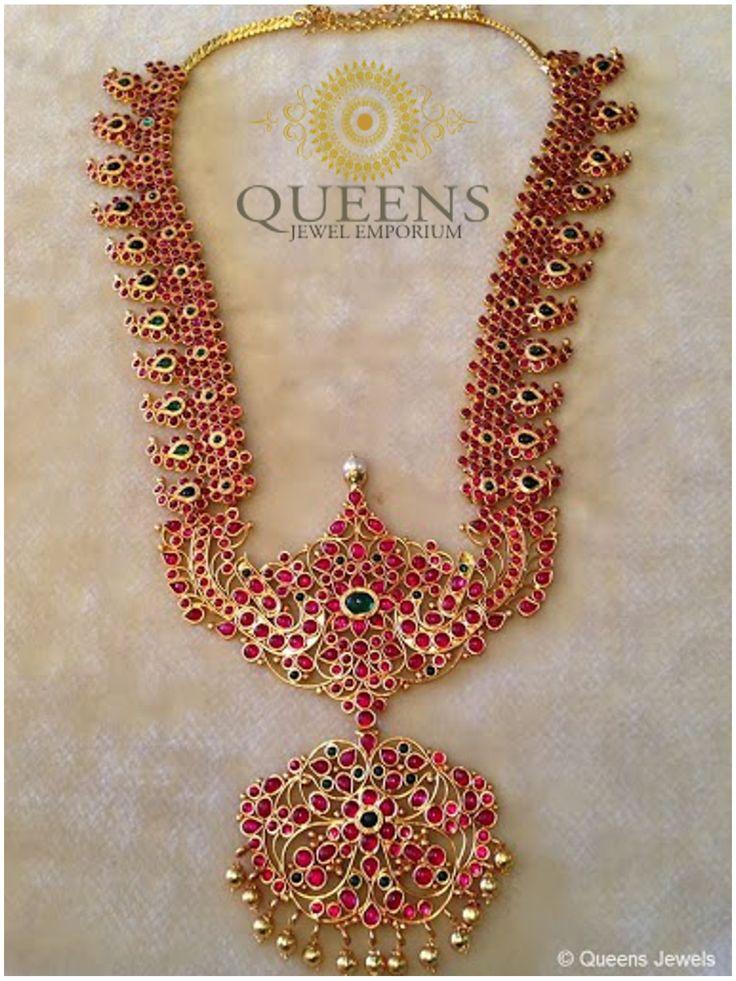 Ethnic chettinadu mango haram mango mala pinterest for Indian jewelry queens ny