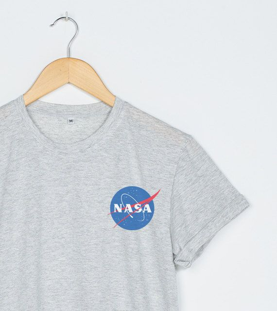 Nasa Shirt Pocket Nasa T-Shirt Women Tee Tshirt T Shirts Size S M L XL - 3XL Heather Grey White