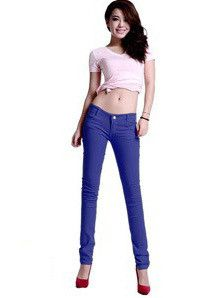 Plus Size New Arrival Women Pants Slim Candy Colors Sexy Fit Jeans Thin Causal Easy Matching Trousers 20 Colors XB288
