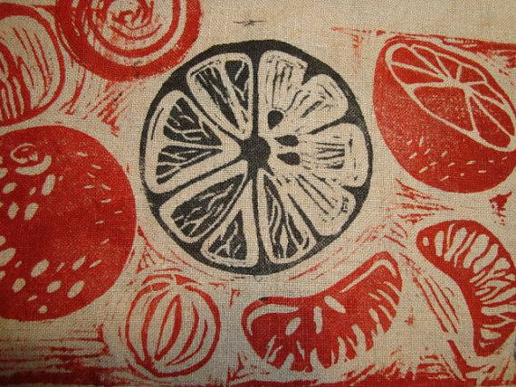 Vintage Swedish block print placemats purchased in the 1960's. (callmejasper/Etsy)