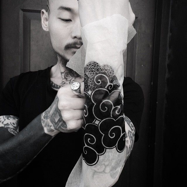 I want to tattoo this #koreantraditionalpattern (cloud) on forearm or calf.  I'm trying to make heavy black Korean traditional pattern also background for Korean tiger.  Please email me if you interested. aprotattoo@gmail.com