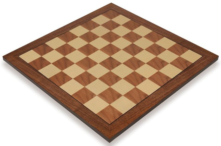 "Walnut & Maple Standard Chess Board - 1.5"" Squares - The Chess Store"