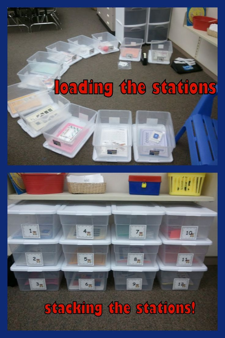 Could work for math workshop could load bins with work that supported our learning goals for the week and differentiated for groups . Use numbers so groups know what bin to grab! Make a chart that rotates group numbers and bin number