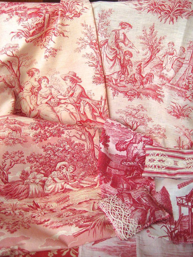 414 best images about toile de jouy on pinterest - Papel pintado toile de jouy ...