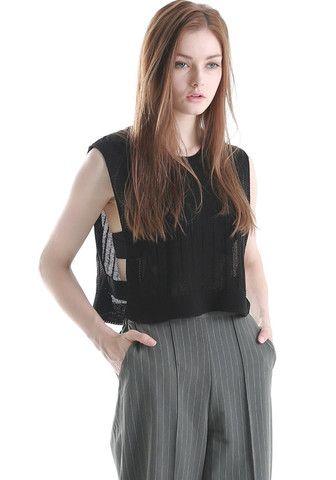 FYVFYV Crop Knit Vest @fyvfyv