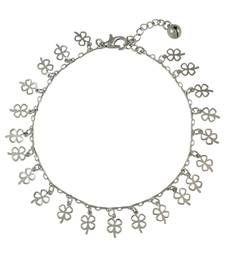 Buy Floral Charms Silver Anklet for Women anklet online