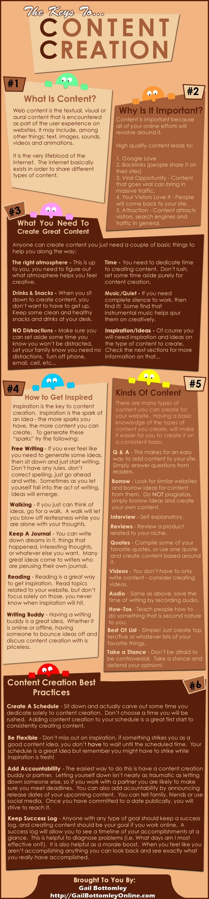 The Keys to great Content creation Infographic...  http://gailbottomleyonline.com/