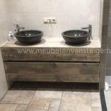 Zwevend badkamermeubel steigerhout | Meubelen van Steigerhout