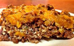 Cheeseburger pie . . . also has Italiam Cream MIM, E Pancakes and a few other recipes