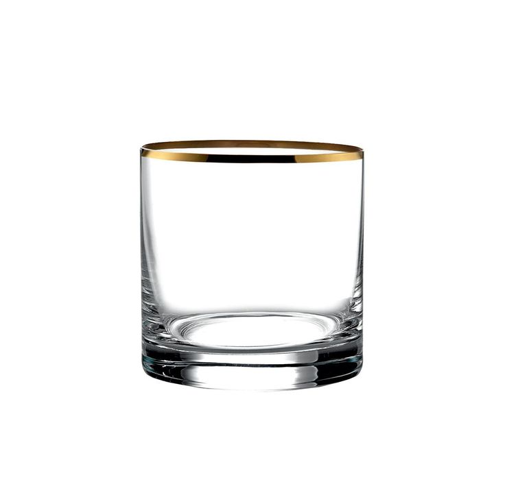 Set of 4 Michel Gold-Rimmed Double Old Fashioned Glasses