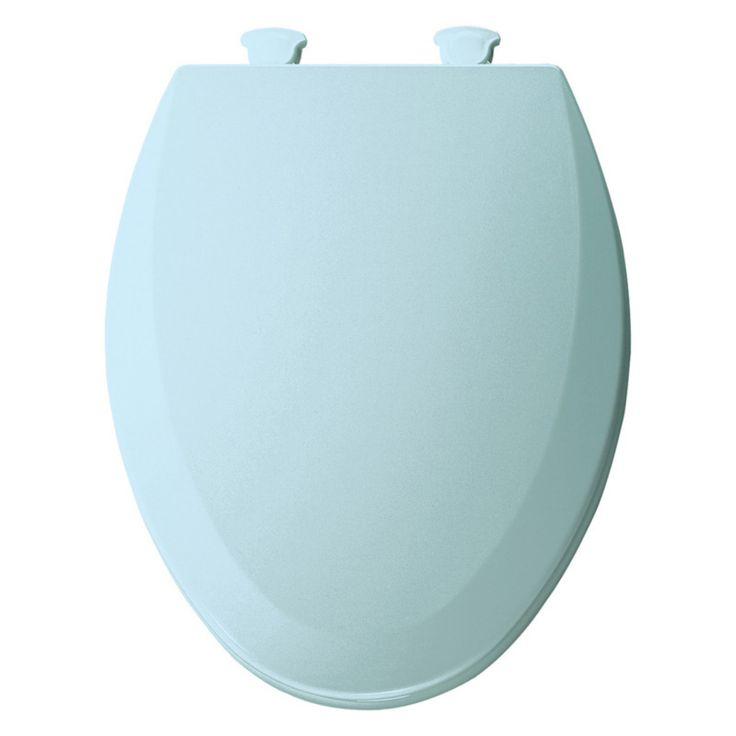 Bemis B1500EC464 Elongated Closed Front Molded Wood Toilet Seat with Cover in Dresden Blue - B1500EC464
