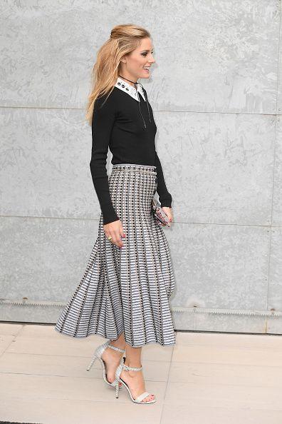 Olivia Palermo arrives at the Giorgio Armani show during Milan Fashion Week…