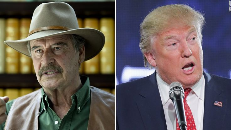 Awesome!! 😂 Former Mexican President Vicente Fox is back to trolling Donald Trump on Twitter, particularly as the US President-elect has waffled on his pledge to have Mexico pay for a border wall and amid questions about Russian interference in the election.