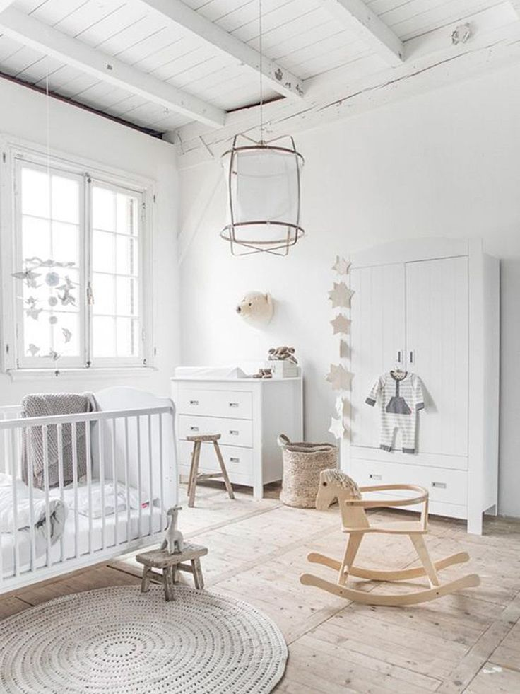 To Create A New Baby Capsule Wardrobe Stunning white nursery with storage ideas.Stunning white nursery with storage ideas. Baby Bedroom, Baby Boy Rooms, Baby Boy Nurseries, Baby Room Decor, Baby Cribs, Nursery Room, Kids Bedroom, Nursery Decor, Kids Rooms