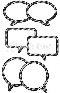 Speech Bubbles Blank Drawing Royalty Free Stock Vector Art
