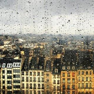 Raining in Paris.  Image via Haven In Paris.