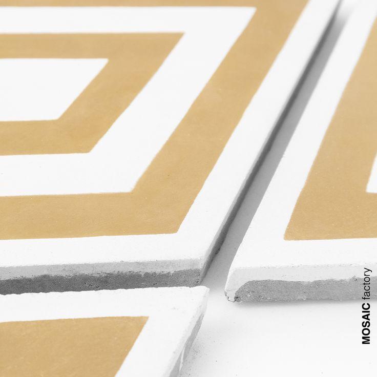 Moderne rautenf rmige zementfliesen mit gelbem und wei em for Auflagerberechnung beispiel