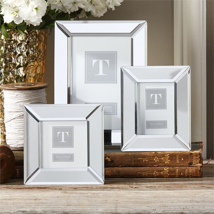 Set of 3 Beveled Mirror Photo Frames design by Twos Company